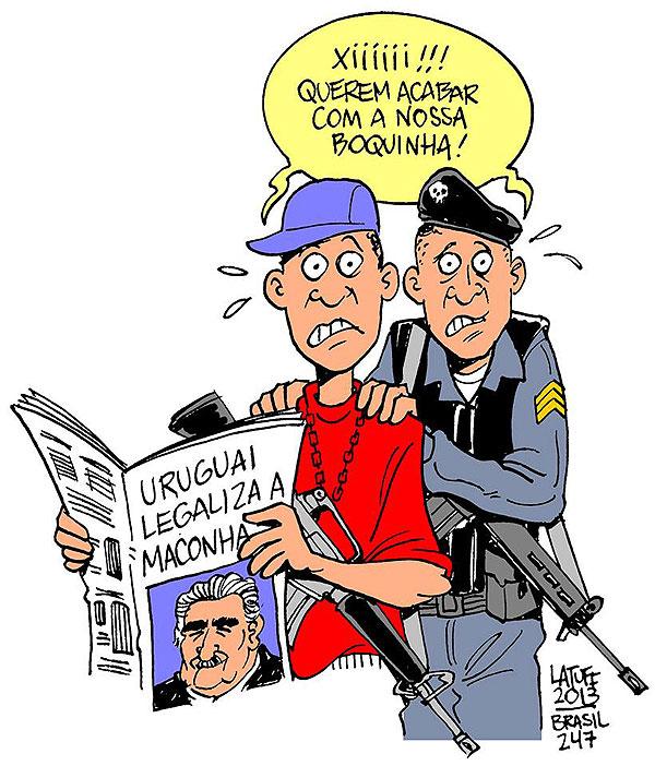 Charge de Latuff para o Brasil 24/7